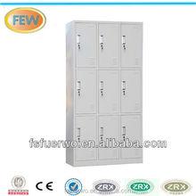 Light grey 9 doors lockable cheap storage cabinets