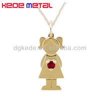 cute boy and girl pendant necklaces