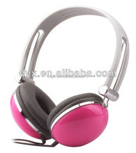 2015 Exhibition promotion heavy bass stereo leather headphone
