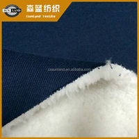 knitted bonded 100 cotton terry fleece and shu velveteen fabric for winter hoodie