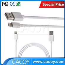 Factory wholesale oem white color for iphone 6 plus cable 8pin usb cable