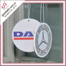 Promotional Logo Printed Hanging Home vent best car paper air freshener