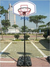 Adjustable street basketball stand with square tube hand type