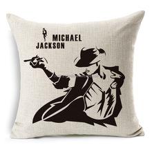 Michael Jackson's dance MICHAELJACKSON cotton and linen pillow cushion cover