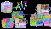 Wholesale 4800 X Rainbow Colourful Rubber Loom Bands Bracelet DIY Making Kit