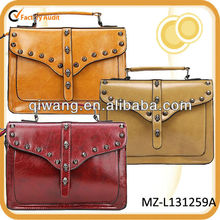 stud leather satchel school bag new arrival