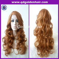 Women Fashion Curly Hair Synthetic Silk Top Lace Front Wig