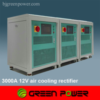 3000A 12V air cooling switch mode rectifier dc power supply high frequency pulse output plating time 40% shorter