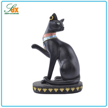 Fashionable latest resin craft egypt the priest cats figurines