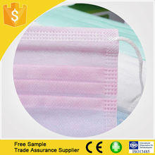 2015 Health and medical disposable mask 3 ply non woven