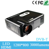 China best selling Native 720P resolution 1080P 3D support HD led optoma projector with 3000lumens