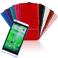 Crazy Horse Wallet PU Leather Case Cover For HTC Desire 820