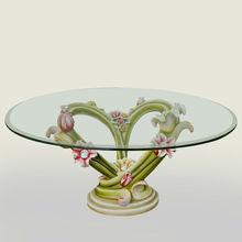 Heart shaped flower plexiglass console table