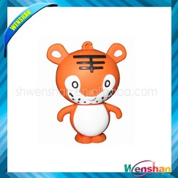 Tiger shape plastic usb flash drive with custom logo