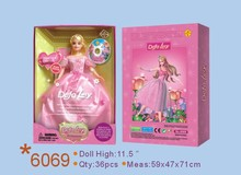 Chinese factory princess dress up game cheap princess doll for sale