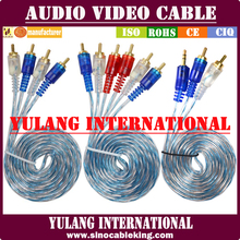 TOP DRAGON High Quality 3 RCA TO 3 RCA Cable # YL88311 for INDIA