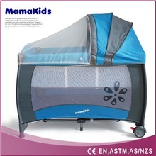 European standard luxury baby playpen colorful baby playpen with canopy for your selection