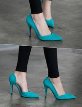 Z6002S beautiful mixed color ladies high heels