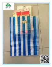 patch handle die cut plastic bag for fashion product packing