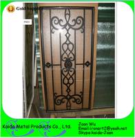 Metal Wrought Iron Door Grilles Inserts For Wooden Door
