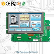 7 inch Serial LCD monitor with RS232 Interface and TFT colorful display