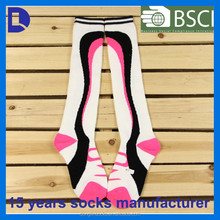 2015 hot lady knee high cotton knitted fashion stocking