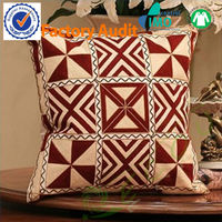 Top Grade 100% Cotton Canvas Embroidered Seat Cushion
