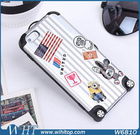 for iPhone 6 Suitcase Case 2 in 1 Combo Smart Phone Accessories with Free Stickers