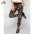 mujer apretada de color de algodón pantalones de jogging pantalones holgados