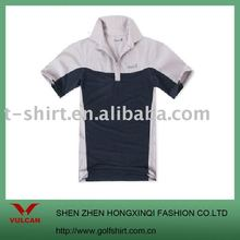 2012 organic cotton men's polo shirt with a 1/4 zipper