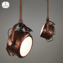 Caren Vintage industrial bar Coffee iron gallery copper ceiling lamp