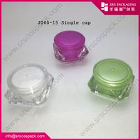diamond shape acrylic jar and cream skincare packaging