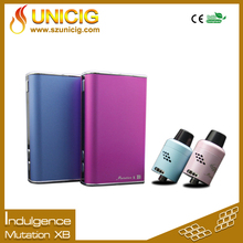 Wholesale ecig box mod Unicig Authentic Indulgence Mutation X B 60W TC box mod with temp control and variable voltage wattage