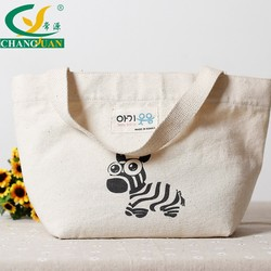 Wholesale Handled Style and Cotton Material shopping Tote bag with no gusset
