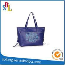 OEM Production Reusable Tote Shopping Bag / outside pocket cheap tote shopping bag