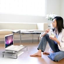 Simple practical detachable desktop computer shelf