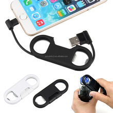 PeleusTech Micro USB To USB Charge Sync Cable + Bottle Opener + Keychain for Android Smartphone