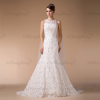 HM96106 Real Picture Graceful Plus Size Mermaid Wedding Dress