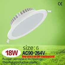 Thermal Plastic led downlight 18W 6 inch