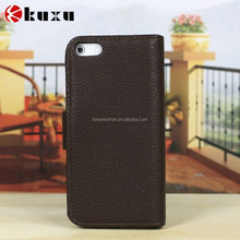 Full body flip soft leather back cover case for iphone