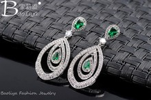 2015 New design christmas earring designs for women made with AAA zircon