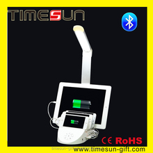 Multiple Smart Cell Phone Charger Station with LED Table Light & Bluetooth Speaker