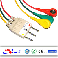 For Nihon Konden BR-546S Holter Recorder ECG Patient Cable and Leads with CE, ISO, RoSH Certificates