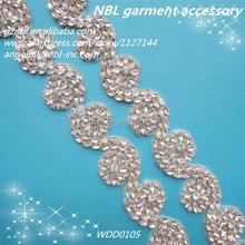 beaded crystal rhinestone belts for wedding dress WDD0105