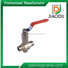 1/2 or 3/4 or 1 inch male or female threaded brass dn20 forged ball valve with steel handle for oil