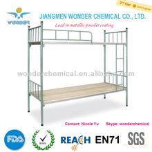 High gloss silver grey metallic mica powder coating for bunk bed