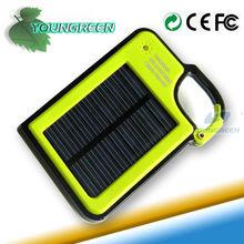Portátil cargador de batería solar con doble- puerto para el teléfono móvil