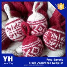 custom decoration acrylic christmas knitting ball