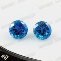 AAA 5mm round dark aquamarine cubic zirconia