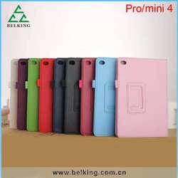 PU Leather Folio Case For Ipad Mini 4 Stand Leather Case